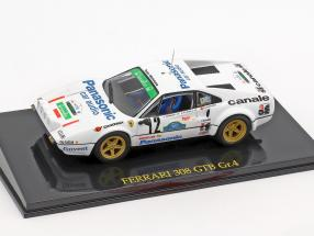 Ferrari 308 GTB Gr.4 #12 Winner Targa Florio 1982 with showcase 1:43 Altaya