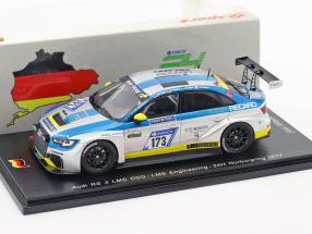 Audi RS 3 LMS DSG #173 24h Nürburgring 2017 LMS Engineering 1:43 Spark