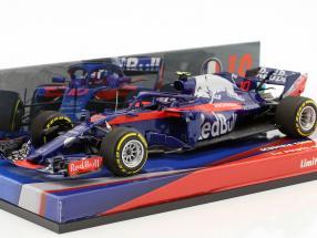 Pierre Gasly Scuderia Toro Rosso STR13 #10 1st Points Bahrain GP Formel 1 2018 1:43 Minichamps