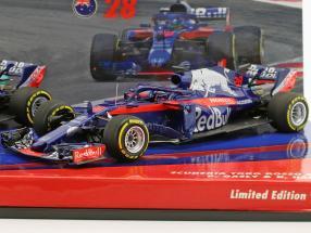 P. Gasly #10 & B. Hartley #28 2-Car Set Scuderia Toro Rosso STR13 Formel 1 2018 1:43 Minichamps