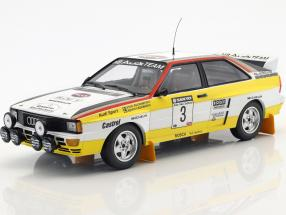 Audi Quattro A2 #3 Winner Rally New Zealand 1984 Blomqvist, Cederberg 1:18 Minichamps