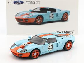 Ford GT #40 Gulf Livery Baujahr 2004 1:18 AUTOart