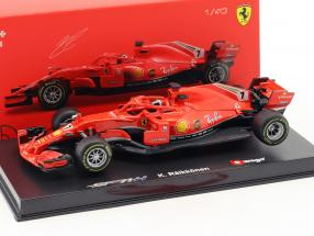 Kimi Räikkönen Ferrari SF71H #7 Formel 1 2018 mit Fahrerfigur 1:43 Bburago