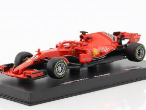 Sebastian Vettel Ferrari SF71H #5 Formel 1 2018 mit Fahrerfigur 1:43 Bburago