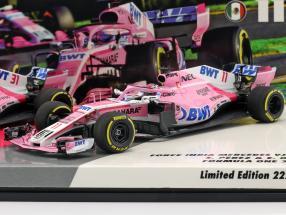 S. Perez #11 & E. Ocon #31 2-Car set Force India VJM11 formula 1 2018 1:43 Minichamps