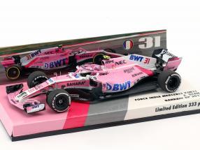 Esteban Ocon Force India VJM11 #31 bahrain GP formula 1 2018 1:43 Minichamps