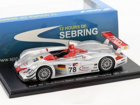 Audi R8 #78 Winner 12h Sebring 2000 Biela, Kristensen, Pirro 1:43 Spark