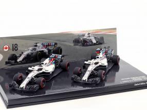 Stroll #18 & Sirotkin #35 2-Car Set Williams FW41 formula 1 2018 1:43 Minichamps