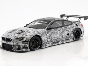 BMW M6 GT3 Presentation Car 24h Spa 2015 weiß / schwarz 1:18 Minichamps