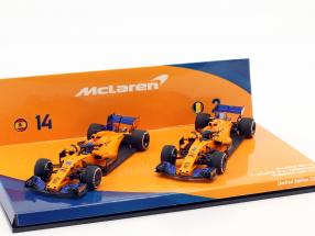 Alonso #14 & Vandoorne #2 2-Car Set McLaren MCL33 Formel 1 2018 1:43 Minichamps