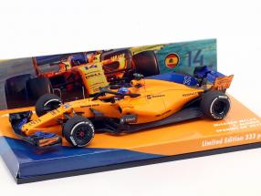 Fernando Alonso McLaren MCL33 #14 Spanien GP Formel 1 2018 1:43 Minichamps