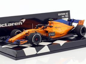 Stoffel Vandoorne McLaren MCL33 #2 formula 1 2018 1:43 Minichamps
