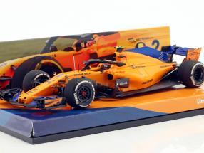 Stoffel Vandoorne McLaren MCL33 #2 Spanish GP formula 1 2018 1:43 Minichamps