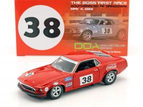 Ford Mustang Boss 302 Trans Am #38 1st victory car Sandown 1969 Allan Moffat 1:18 GMP