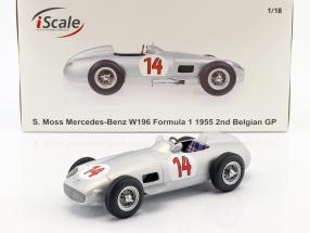 Stirling Moss Mercedes-Benz W196 #14 2nd Belgian GP formula 1 1955 1:18 iScale