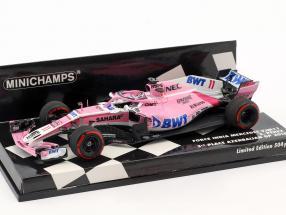 Sergio Perez Force India VJM11 #11 3rd Aserbaidschan GP Formel 1 2018 1:43 Minichamps