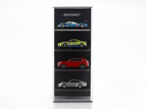 acrylic Showcase für 4 model cars in scale 1:87 black Minichamps