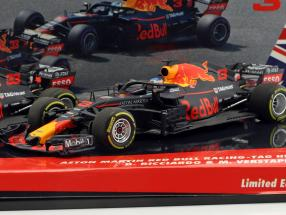 Ricciardo #3 & Verstappen #33 2-Car Set Red Bull Racing RB14 Formel 1 2018 1:43 Minichamps