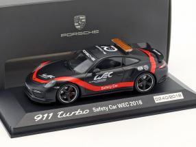 Porsche 911 (991 II) Turbo Safety Car WEC 2018 black / red 1:43 Minichamps