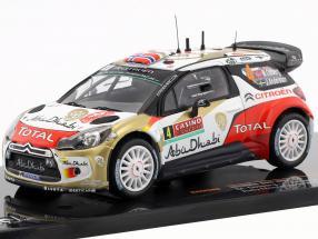 Citroen DS3 WRC #4 Rallye Monte Carlo 2014 Ostberg / Andersson 1:43 Ixo