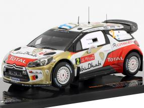 Citroen DS3 WRC #2 Rallye de Portugal 2013 Hirvonen / Lehtinen 1:43 Ixo