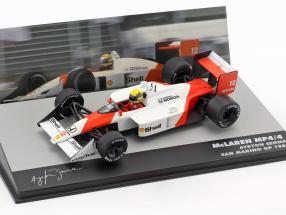 Ayrton Senna McLaren MP4/4 #12 Winner San Marino GP Formel 1 1988 1:43 Altaya