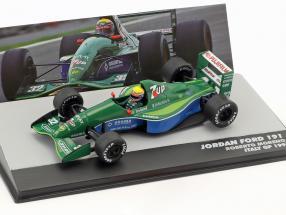 Roberto Moreno Jordan Ford 191 #32 Italy GP formula 1 1991 1:43 Altaya