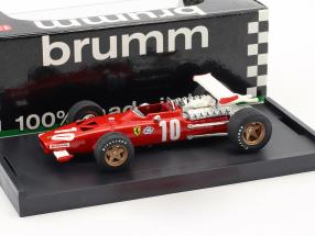Pedro Rodriguez Ferrari 312 F1 #10 6th Italien GP Formel 1 1969 1:43 Brumm