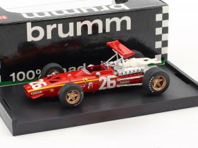 Jacky Ickx Ferrari 312 F1 #26 Winner Frankreich GP Formel 1 1968 1:43 Brumm