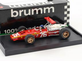 Jacky Ickx Ferrari 312 F1 #26 Winner Frankreich GP Formel 1 1968 mit Fahrerfigur 1:43 Brumm