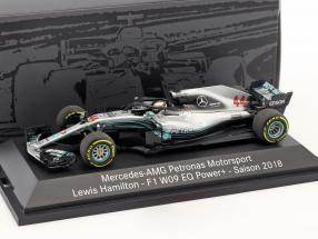 Lewis Hamilton Mercedes-AMG W09 EQ World Champion Formel 1 2018 1:43 Minichamps