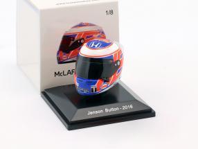 Jenson Button McLaren Honda Formel 1 2016 Helm 1:8 Spark