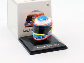 Fernando Alonso McLaren Honda formula 1 2016 helmet 1:8 Spark
