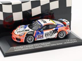 Porsche Cayman GT4 Clubsport #354 24h Nürburgring raceunion Teichmann Racing 1:43 Minichamps
