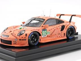 Porsche 911 (991) RSR #92 Pink Pig Tribute 24h LeMans 2018 Porsche GT Team 1:12 mit Vitrine Spark