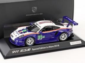 Porsche 911 (991) RSR #91 2nd LMGTE Pro 24h LeMans 2018 1:43 Spark