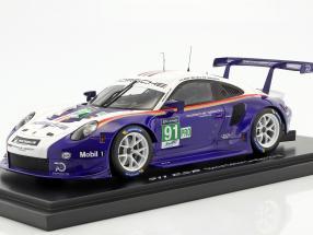 Porsche 911 (991) RSR #91 2nd LMGTE Pro 24h LeMans 2018 Porsche GT Team with showcase 1:18 Spark