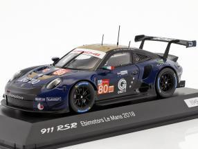 Porsche 911 (991) RSR #80 24h LeMans 2018 Ebimotors 1:43 Spark