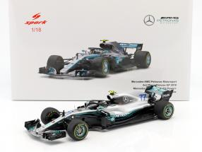 Valtteri Bottas Mercedes-AMG F1 W09 EQ Power+ #77 2nd Chinese GP Formel 1 2018 1:18 Spark