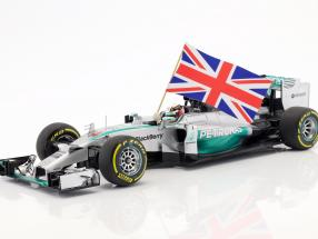 L. Hamilton Mercedes F1 W05 #44 Weltmeister Abu Dhabi F1 2014 1:18 Minichamps