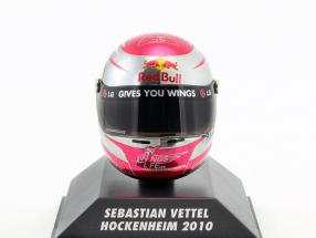 S. Vettel Red Bull GP Hockenheim Formula 1 World Champion 2010 Helmet 1:8 Minichamps