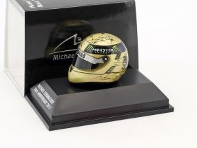 M. Schumacher Mercedes F1 W03 GP Spa Formel 1 2011 Helm 1:8 Schuberth