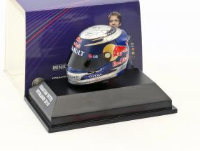 S. Vettel Red Bull GP Brazil Formula 1 World Champion 2010 Helmet 1:8 Minichamps