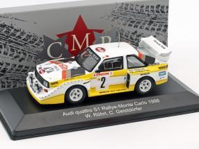 Audi Quattro Sport E2 Night Version #2 4th Rallye Monte Carlo 1986 Röhrl, Geistdörfer 1:43 CMR