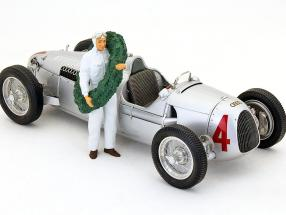 race car driver figure with laurel wreath   Figures