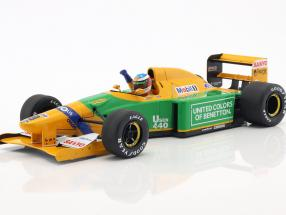 Michael Schumacher Benetton B192 #19 4th Monaco GP Formel 1 1992 1:18 Minichamps