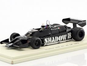 Elio de Angelis Shadow DN9 #18 4th United States east GP formula 1 1979 1:43 Spark