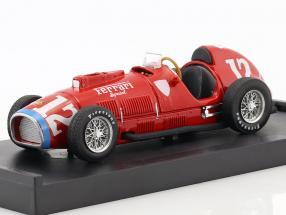 Alberto Ascari Ferrari 375 #12 Rookie Test Indianapolis World Champion F1 1952 1:43 Brumm