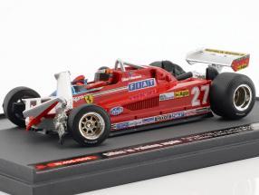 Gilles Villeneuve Ferrari126CK #27 3rd Kanda GP Formel 1 1981 1:43 Brumm
