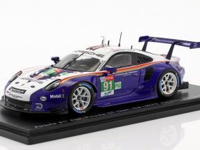 Porsche 911 (991) GT3 RSR #91 2nd LMGTE Pro Class 24h LeMans 2018 1:43 Spark